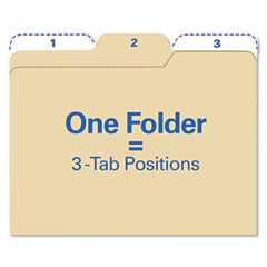 Ideastream FT07046 Findit File Folders, 1/3 Cut, 11 Point Stock, Letter, Manila, 80/Pack
