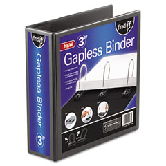"Ideastream FT07073 Gapless Loop Ring View Binder, 11 X 8-1/2, 3"" Capacity, Black"