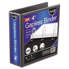 """Ideastream FT07074 Gapless Loop Ring View Binder, 11 X 8-1/2, 4"""" Capacity, Black"""