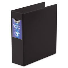 "Ideastream FT07093 Gapless Loop Ring Binder, 11 X 8-1/2, 3"" Capacity, Black"