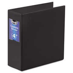 "Ideastream FT07094 Gapless Loop Ring Binder, 11 X 8-1/2, 4"" Capacity, Black"