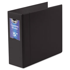 "Ideastream FT07095 Gapless Loop Ring Binder, 11 X 8-1/2, 5"" Capacity, Black"