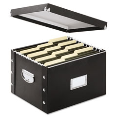 Snap-n-store - snap n store storage box, letter/legal, 16 1/4 x 9 3/4 x 13 1/4, black, sold as 1 ea