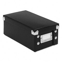 Ideastream SNS01573 Snap N Store Collapsible Index Card File Box Holds 1,100 3 X 5 Cards, Black