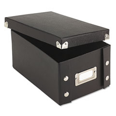 Ideastream SNS01577 Snap N Store Collapsible Index Card File Box Holds 1,100 4 X 6 Cards, Black