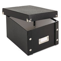 Ideastream SNS01647 Snap N Store Collapsible Index Card File Box Holds 1,100 5 X 8 Cards, Black