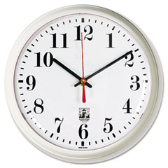 Chicago Lighthouse 67102602 Selfset Wall Clock, 9-1/4In, White
