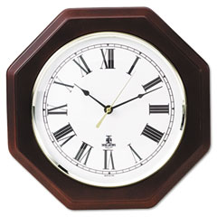 Chicago Lighthouse 67207010 Octagon Mahogany Quartz Clock, 12 In, Mahogany