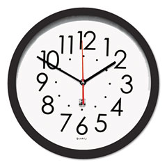 Chicago Lighthouse ILC67800603 Contemporary SelfSet Clock, 14-1/2in, Black
