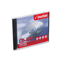 Imation 12381 Cd-Rw Disc, 700Mb/80Min, 4X, W/Slim Jewel Cases, Silver, 1/Pack