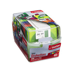 "Imation 15847 3.5""Floppy Diskettes, Ibm-Formatted, Ds/Hd, 5 Assorted Neon Colors, 40/Pack"
