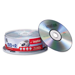 Imation 17194 Dvd+R Discs, 4.7Gb, 16X, Spindle, Silver, 25/Pack