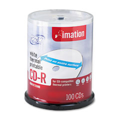 Imation 17274 Cd-R Discs, 700Mb/80Min, 52X, Spindle, White, 100/Pack