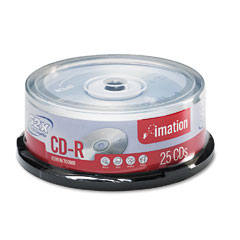Imation 17333 Cd-R Discs, 700Mb/80Min, 52X, Spindle, Silver, 25/Pack