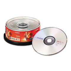 Imation 17340 Dvd-R Discs, 4.7Gb, 16X, Spindle, Silver, 25/Pack