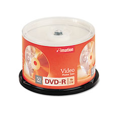 Imation 17341 Dvd-R Discs, 4.7Gb, 16X, Spindle, Silver, 50/Pack