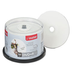Imation 17353 Dvd+R Discs, 4.7Gb, 16X, Spindle, White, 50/Pack