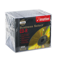 Imation 17355 Business Select Cd-R Discs, 700Mb/80Min, 52X, Jewel Cases, Gold, 10/Pack
