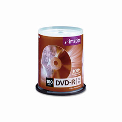 Imation 18059 Dvd-R Discs, 4.7Gb, 16X, Spindle, Silver, 100/Pack