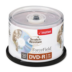 Imation 18217 Scratch-Resistant Dvd-R Discs, 4.7Gb, 16X, Spindle, Silver, 50/Pack