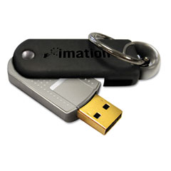 Imation 18410 Defender F50 Pivot Usb Flash Drive, 4Gb