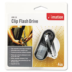Imation 26309 Clip Usb Flash Drive, 4Gb