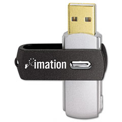 Imation 26654 Swivel Usb Flash Drive, 8 Gb