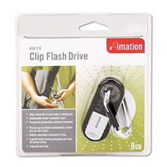 Imation 26657 Clip Usb Flash Drive, 8Gb