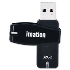 Imation 27605 Swivel Usb Flash Drive, 32 Gb