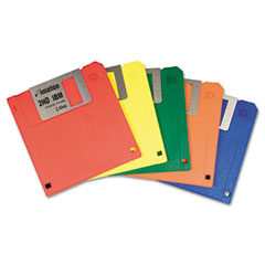 "Imation 42439 3.5""Floppy Diskettes, Ibm-Formatted, Ds/Hd, 5 Assorted Colors, 10/Box"