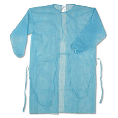 Impact 1540 Isolation Gown, Spun-Bonded Polypropylene, Blue, 50/Carton