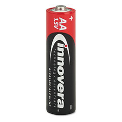 Innovera 11024 Alkaline Batteries, Aa, 24 Batteries/Pack