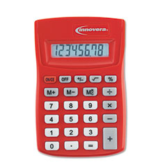 Innovera 15902 15902 Pocket Calculator, Red