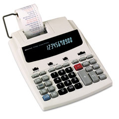 Innovera 16000 16000 Two-Color Roller Printing Calculator, 12-Digit Fluorescent, Black/Red