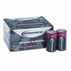 Innovera 22012 Alkaline Batteries, C, 12 Batteries/Pack