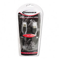 Innovera 30011 Usb Extension Cable, 10 Ft., Gray