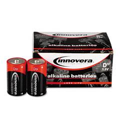 Innovera 33012 Alkaline Batteries, D, 12 Batteries/Pack