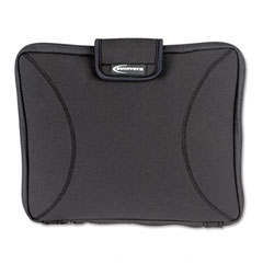Innovera - neoprene laptop sleeve, fits to 15-6/10-inch, zippered w/handles, black, sold as 1 ea