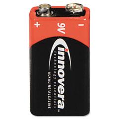 Innovera 44004 Alkaline Batteries, 9V, 4 Batteries/Pack