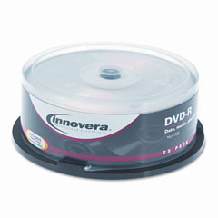 Innovera 46825 Dvd-R Discs, 4.7Gb, 16X, Spindle, Silver, 25/Pack