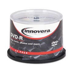 Innovera - dvd-r discs, 4.7gb, 16x, spindle, silver, 50/pack, sold as 1 pk