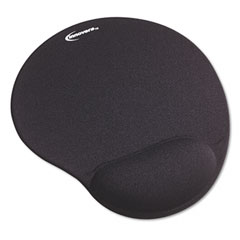 Innovera 50448 Mouse Pad W/Gel Wrist Pad, Nonskid Base, 10-3/8 X 8-7/8, Black