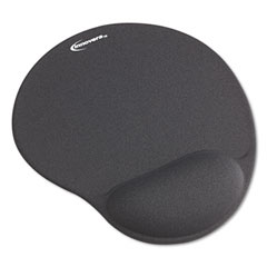 Innovera 50449 Mouse Pad W/Gel Wrist Pad, Nonskid Base, 10-3/8 X 8-7/8, Gray
