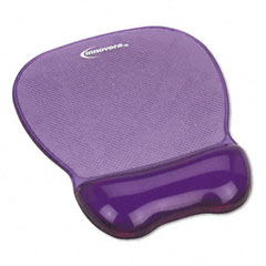 Innovera 51440 Gel Mouse Pad W/Wrist Rest, Nonskid Base, 8-1/4 X 9-5/8, Purple