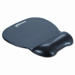 Innovera - gel mouse pad w/wrist rest, nonskid base, 8-1/4 x 9-5/8, black, sold as 1 ea