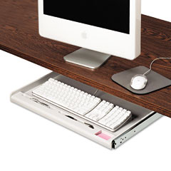 Innovera - standard underdesk keyboard drawer, light gray, sold as 1 ea