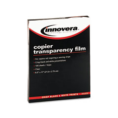 Innovera IVR65120 Copier Tranparency Film, Letter, Clear, 100/Box