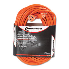 Innovera - indoor/outdoor extension cord, 100 feet, orange, sold as 1 ea
