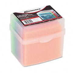 Innovera - cd/dvd slim storage box, holds 20 disks, sold as 1 ea