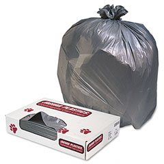 Jaguar Plastics G3858G Industrial Strength Commercial Can Liners, 60 Gal, 1.3Mil, Gray, 100/Carton